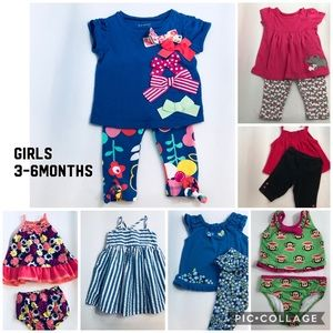 Baby Girl 3-6 M Dresses, Outfits, Bathing Suit Lot
